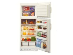 Gas/240v Dual Energy Freestanding Fridge/ Freezer - For Batch or Holiday Home 								<br>224 litre freestanding fridge with separate 47 litre freezer compartment. 								<br>Works with 230v electricity when available, or with bottled gas if not 								<br>Dimensions mm (HxWxD): 1613 x 592 x 673 								<br>Price: $3,499.00