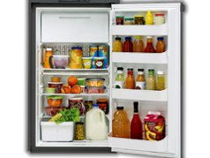 Dometic RM2555 3 Way Fridge Freezer. 150L 12V/230V/Gas  							 <br>•Automatic Energy Selection (AES). This feature allows the refrigerator to automatically select the best energy source available.  							 <br>•Top mounted controls.Adjustable, removable door racks.  							 <br>•Internal accessories: Food shelves x 3, Door shelves x 4, Ice tray  							 <br>•A flue kit is needed with this fridge.  							 <br>•Required Vents: 2 X Large Fridge Vent OR Large Fridge Vent + Fridge Roof Vent